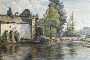 Adolphe-Marie Beaufrère Le moulin des Gorets, 1897,