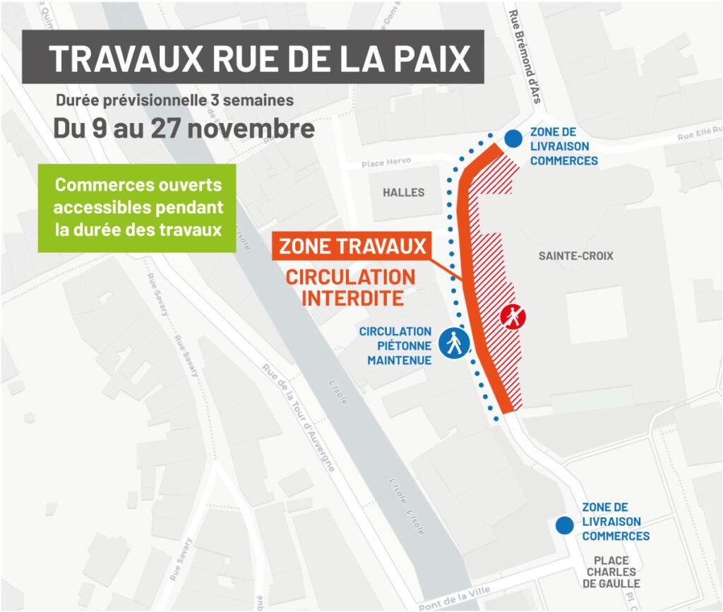Plan travaux rue de la Paix
