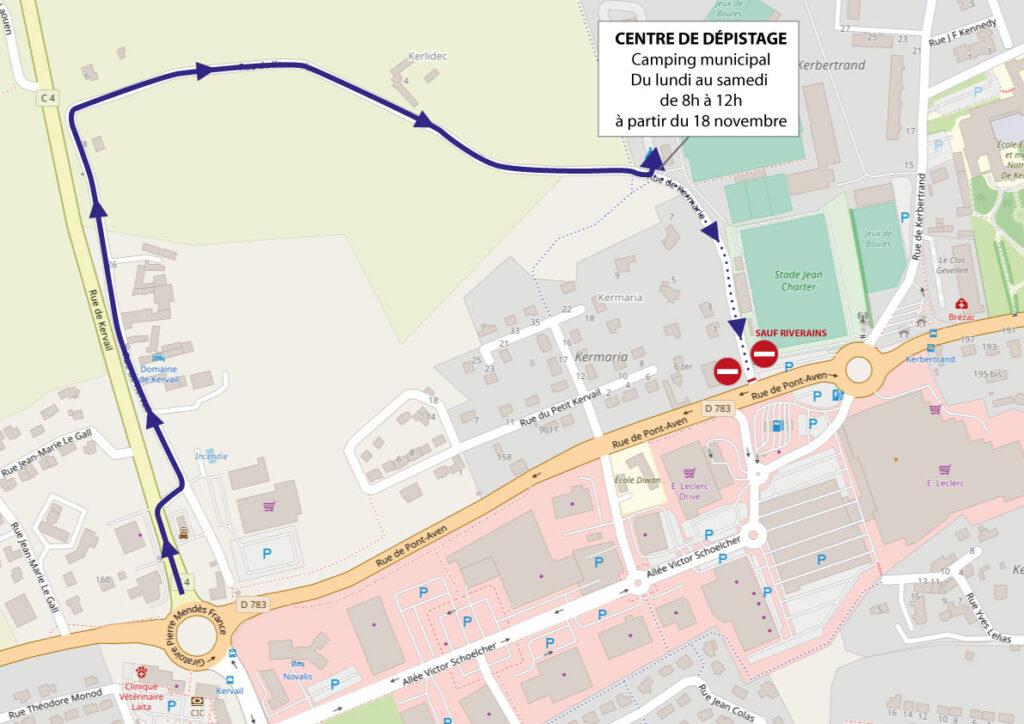 plan accès centre COVID